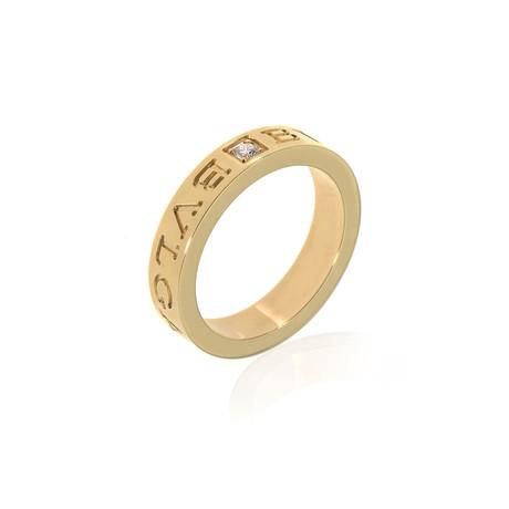 Bulgari Bulgari 18k Yellow Gold Diamond Ring // Ring Size: 6.25