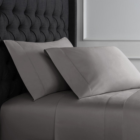 Christopher Knight Collection T1000 Thread Count Hemstitch Sheet Set + Pillowcases // Charcoal (Full)