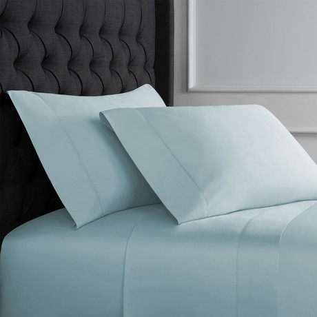 Christopher Knight Collection T1000 Thread Count Hemstitch Sheet Set + Pillowcases // Blue (Full)