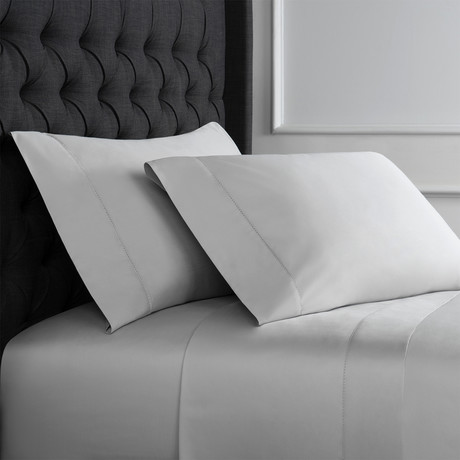 Christopher Knight Collection T1000 Thread Count Hemstitch Sheet Set + Pillowcases // Gray (Full)