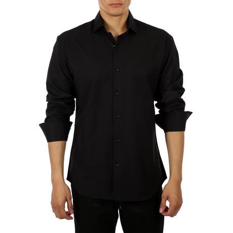 Coolidge Long-Sleeve Button-Up Shirt // Black (S)