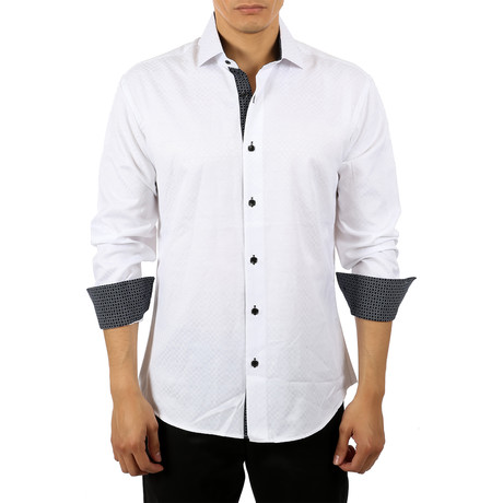 Grace Long-Sleeve Button-Up Shirt // White (S)