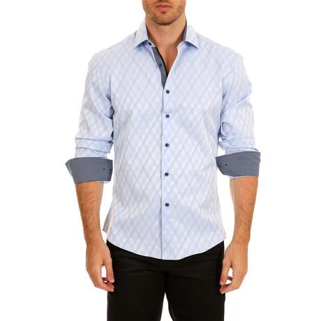 Carson Long-Sleeve Button-Up Shirt // Light Blue (S)