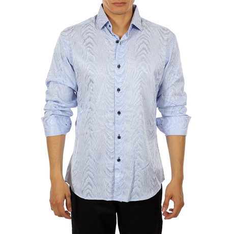 Carey Long-Sleeve Shirt // Blue (S)