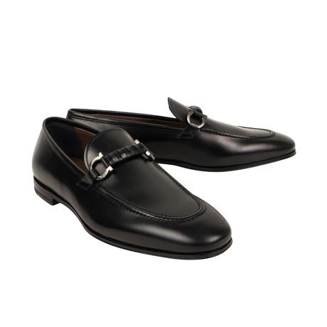 Salvatore Ferragamo // Leather 'Gancini' Loafer Dress Shoes // Black (US: 5)