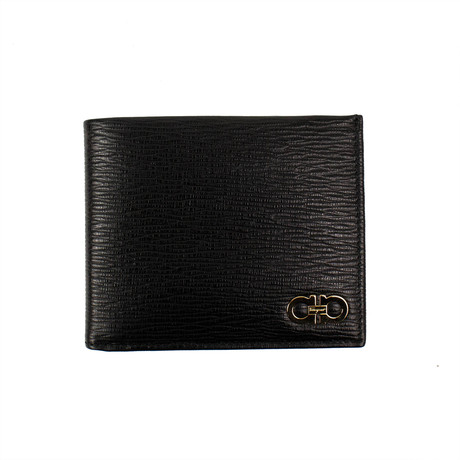 Salvatore Ferragamo // 'Revival' Bi-Fold Wallet // Black