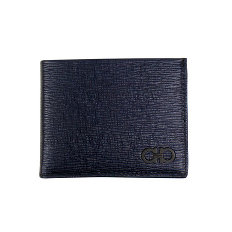 Salvatore Ferragamo // Revival' Bi-Fold Wallet // Navy Blue