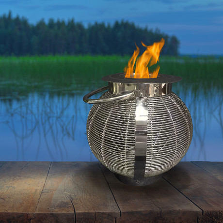 Anywhere Fireplace Jupiter // 2-in-1 Fireplace/Lantern + 12-Pack SunJel Fuel