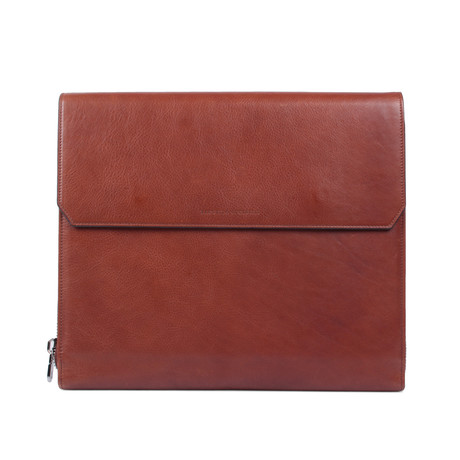 Leather Portfolio Holder // Brown
