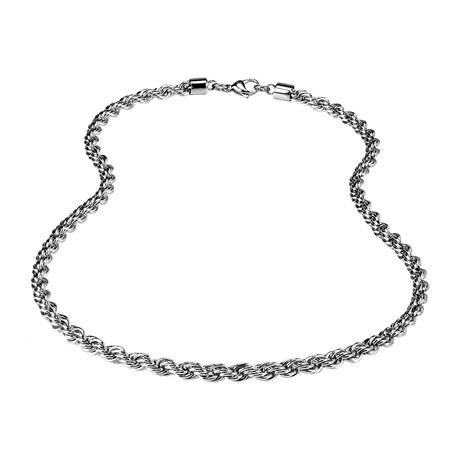 "Stainless Steel Rope Chain // 6mm // Silver (20""L)"