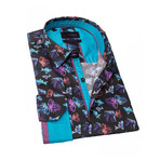 Neil Print Button-Up Shirt // Multicolor (2XL)