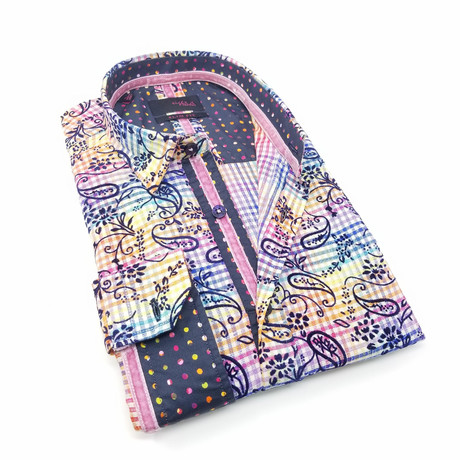 Pulisic Print Button-Up Shirt // Multicolor (S)