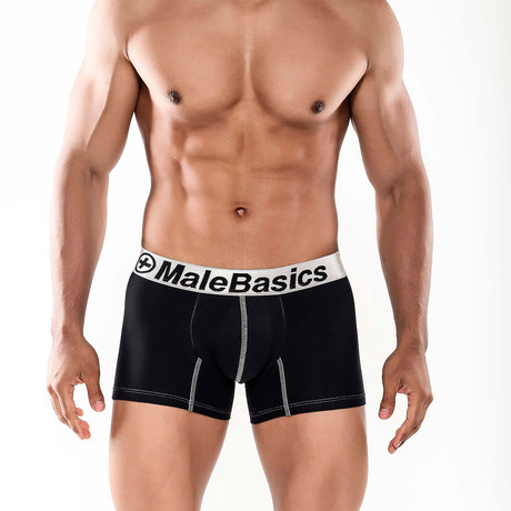Fitted Boxer Short // Black (S)