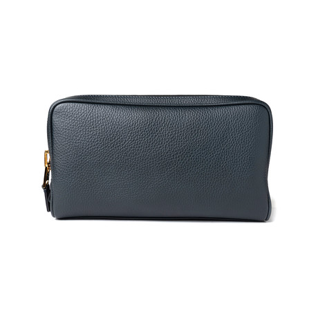 Men's Leather Toiletry Bag // Black