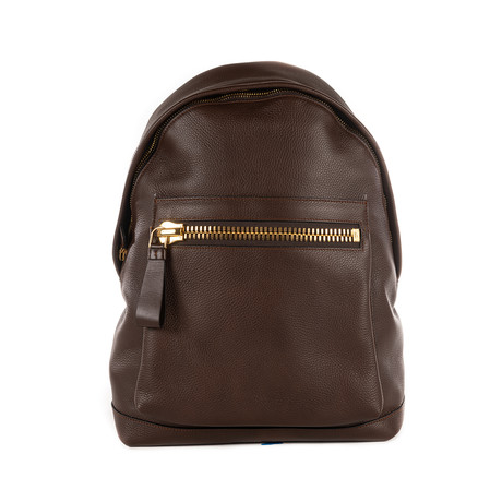 Leather Backpack // Reddish Brown
