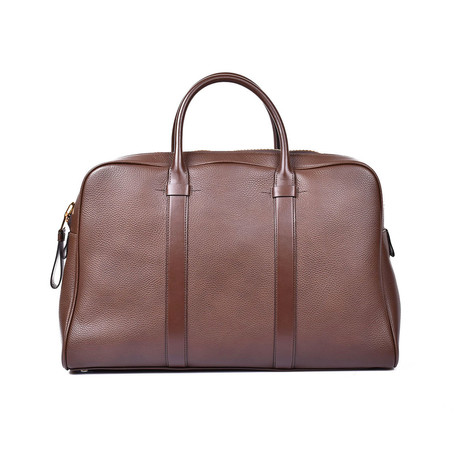 Buckley Grained Leather Briefcase // Large // Cognac