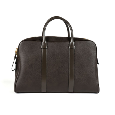 Buckley Grained Leather Briefcase // Large // Dark Brown