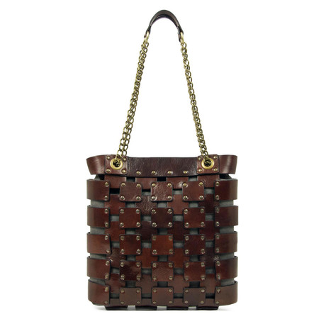 Jeanne D'Arc // Leather Tote Bag // Brown