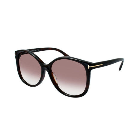 Tom Ford // Women's Alicia Sunglasses // Black + Brown