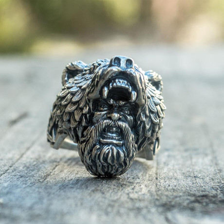 Viking Collection // Berserker + Bear Head Ring (5)