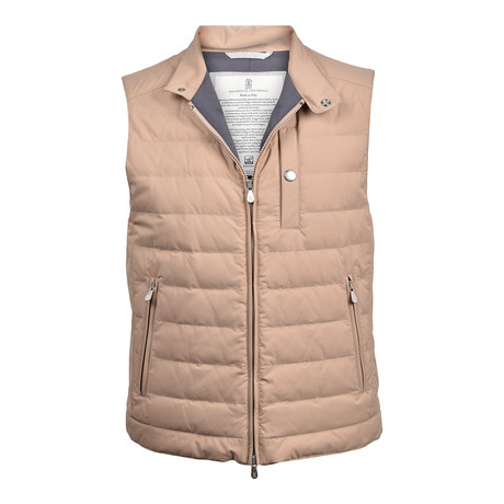 Puffer Vest // Beige (XS)
