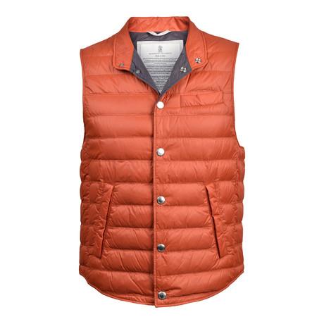 Puffer Vest // Orange (XS)
