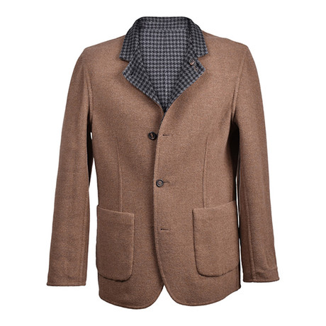 Two-Tone Reversible Jacket // Brown + Gray (Euro: 46)