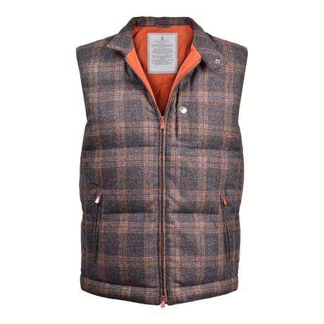 Two-Tone Vest // Gray + Brown (XS)