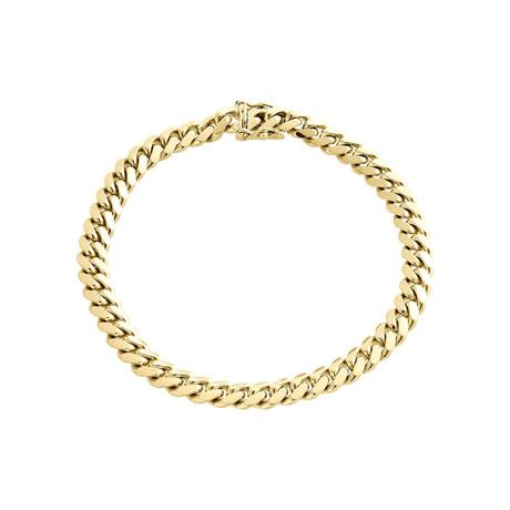 Semi-Solid 14K Gold Miami Cuban Chain Bracelet // 6mm // Yellow