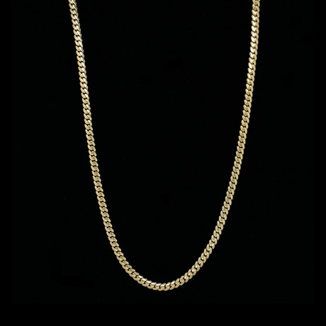 """Hollow 14K Gold Miami Cuban Link Chain Necklace // 3mm // Yellow (18"""" // 5.3g)"""