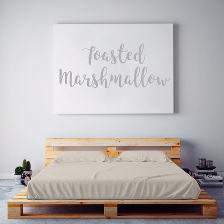 Moisture Wicking 1500 TC Soft Sheet Set // Toasted Marshmallow (Full)