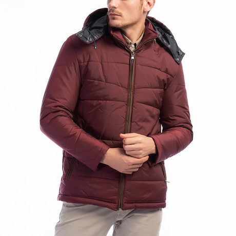 Cooper Coat // Burgundy (Small)