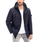 Dewberry // Chaz Coat // Dark Blue (XX-Large)
