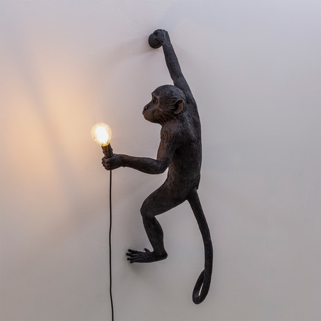 Monkey Lamp // Outdoor  // Black (Sitting)