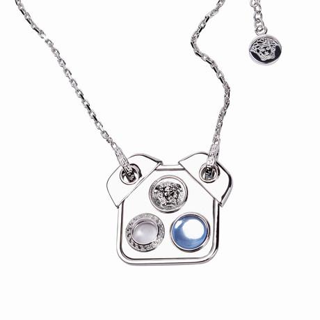 Gianni Versace // Medusa Pendant + Necklace // Silver Tone