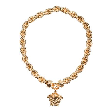 Gianni Versace // Medusa Necklace // Gold Tone