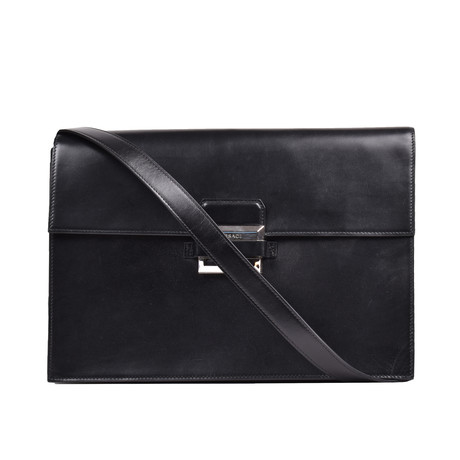 Gianni Versace // Women's Leather Clutch // Black