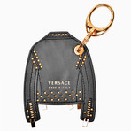 Gianni Versace // Leather Jacket Key Chain // Black
