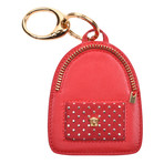 Gianni Versace // Leather Key Chain // Red