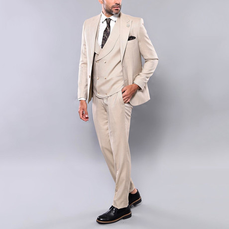 Alonso 3-Piece Slim Fit Suit // Beige (Euro: 42)