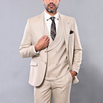 Alonso 3-Piece Slim Fit Suit // Beige (Euro: 52)