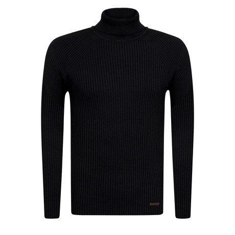 Ola Turtleneck Slim Fit Pullover // Black (S)