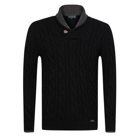 Over Shawl Collar Pullover // Black (S)