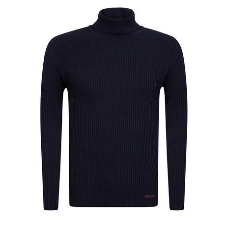 Ola Turtleneck Slim Fit Pullover // Navy (S)