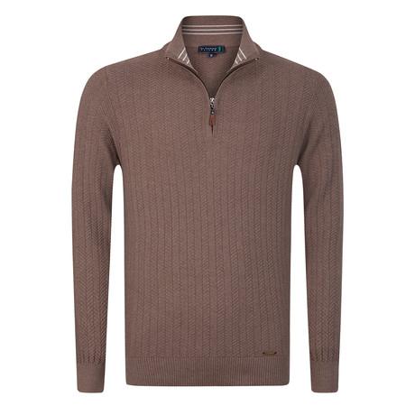 Golfer Textured Half-Zip Pullover // Vizonte (S)