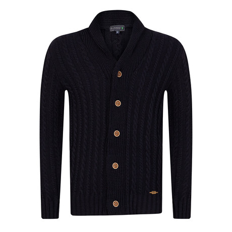 Fairway Buttoned Cardigan // Navy (S)