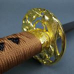 Musha Gold Warrior Damascus Katana