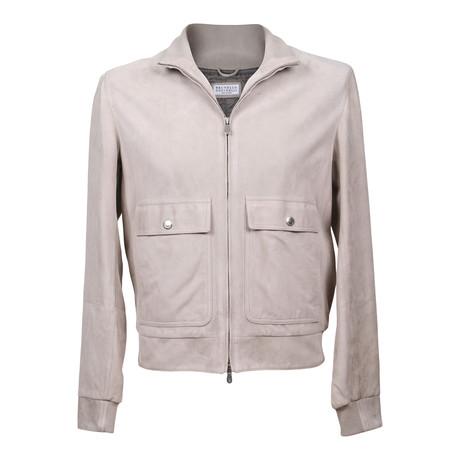 Suede Jacket // Ivory (XS)