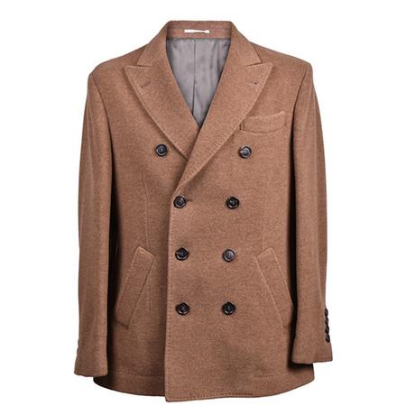 Virgin Wool Pea Coat // Brown (Euro: 46)