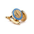The Golden Lion Cufflinks // Blue + Gold